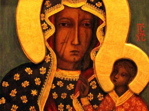 Image result for black madonna of częstochowa