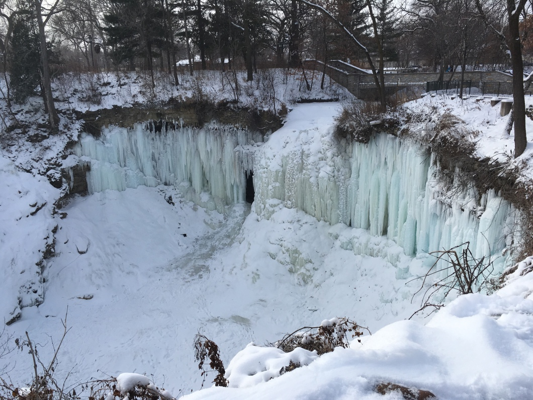 Minnehaha Falls In January, frozen and beautiful